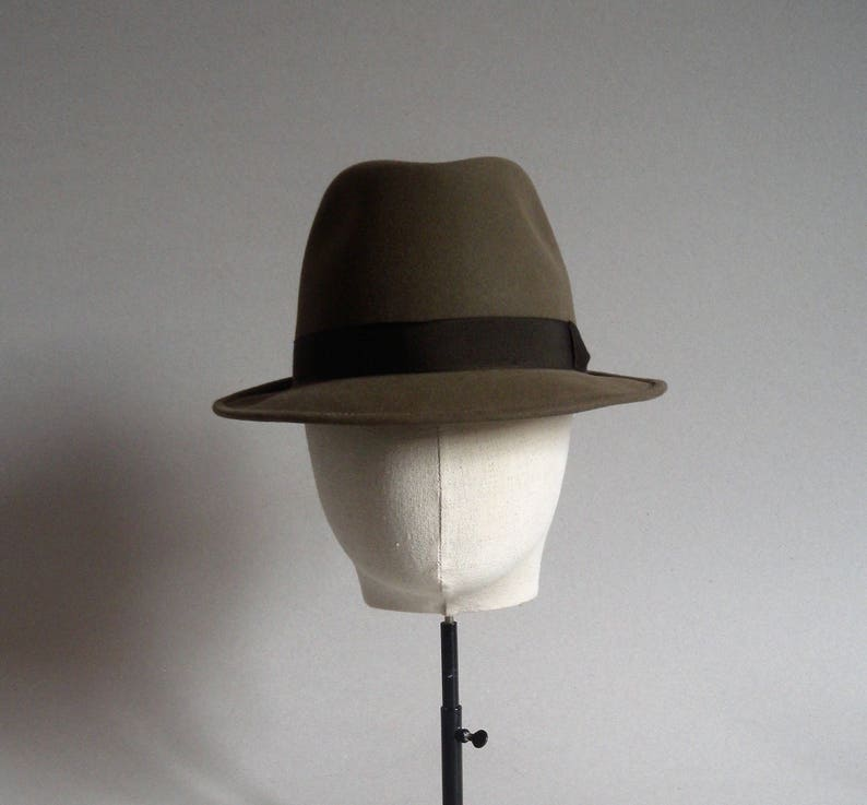 c1f1be4a144 Barbisio fedora. Brown. Vintage italian hat. Men hat. Fedora