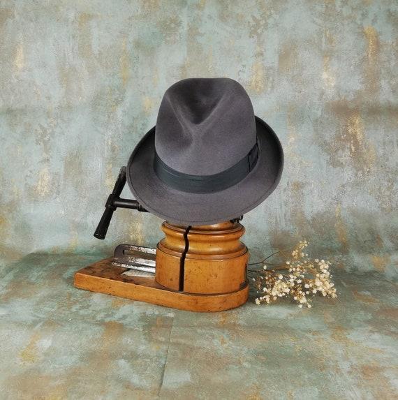 52f859756 Fur felt Barbisio fedora hat from 80s