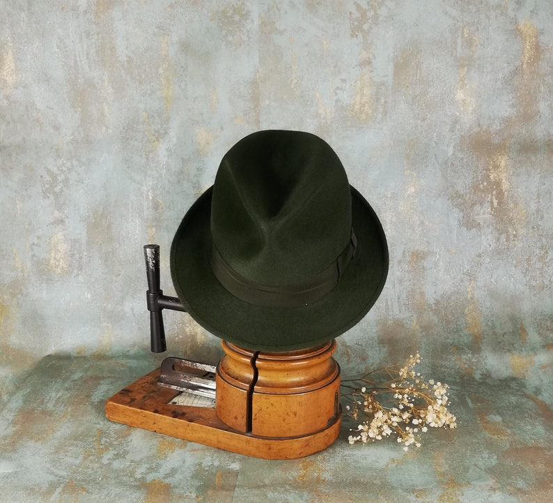 5e93eac1e8170 Barbisio vintage green fedora. 1980s. Made in Italy. Never