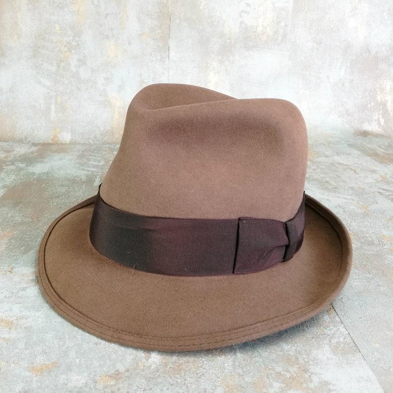 Borsalino cappello vintage di mens. Linea Augusta. Fedora  09e47320925b