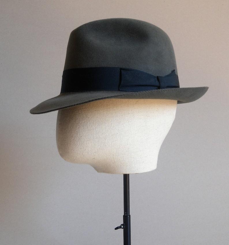 9a2598a766a 1980s. Vintage fedora hat. Borsalino. Antique hat.