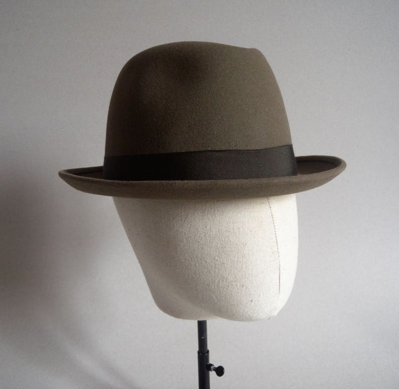 e536201329682 Barbisio fedora. Brown. Vintage italian hat. Men hat. Fedora
