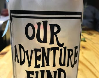 Our Adventure Fund Jar Piggy Bank