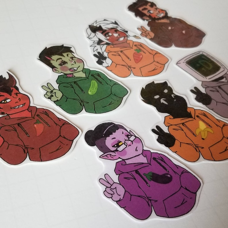 Monster Prom Hoodies Stickers! (2 inches each)