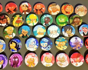 36 Cookie Run Buttons! (1 in each)