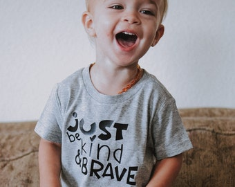 Just Be Kind & Brave, Mister Rogers Collection, Kindness, Bravery, Infant, Toddler, Youth, Kids, Shirt