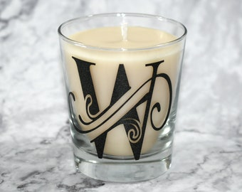 12 oz Monogramed Soy Candle