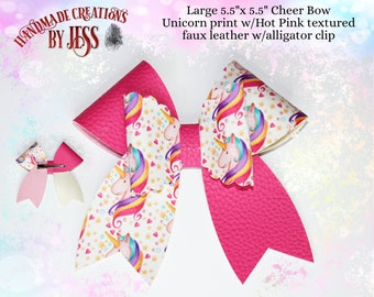 Large Cheer Bow Faux Leather