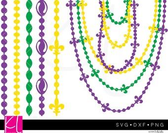 Mardi Gras Beads Svg Etsy