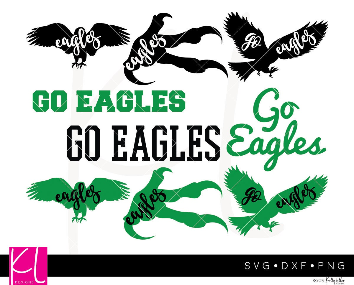 Eagles SVG Cut File Pack with 9 Eagle Designs for High School | Etsy