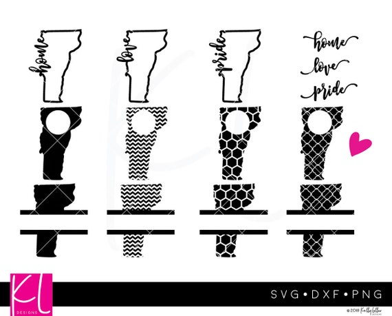 11 Vermont SVG Vermont State SVG Vermont Monogram Frames   Etsy