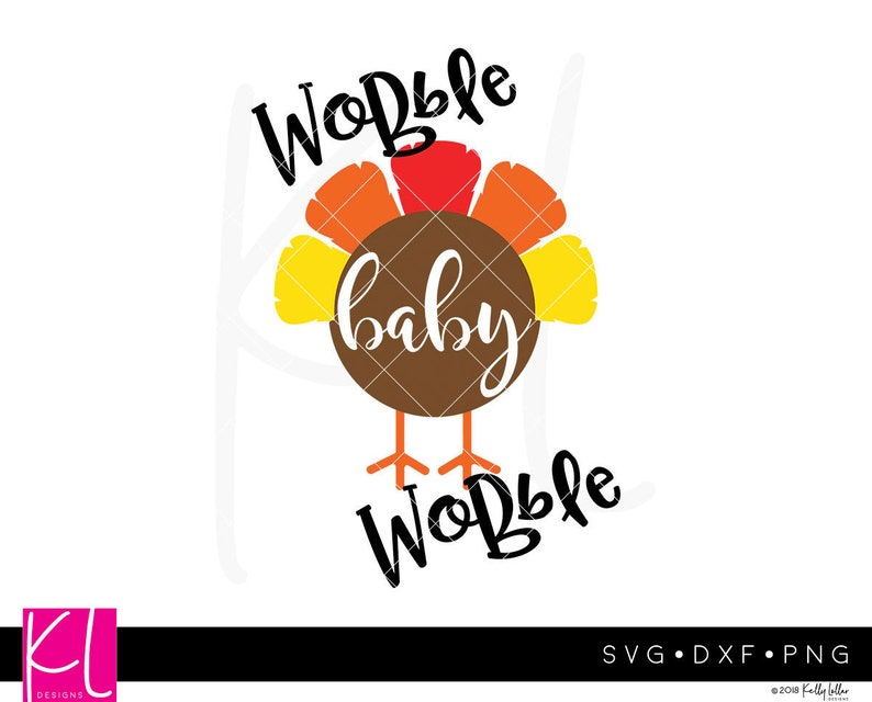 298a1409 Wobble Thanksgiving Baby SVG Cut File with Turkey | Etsy