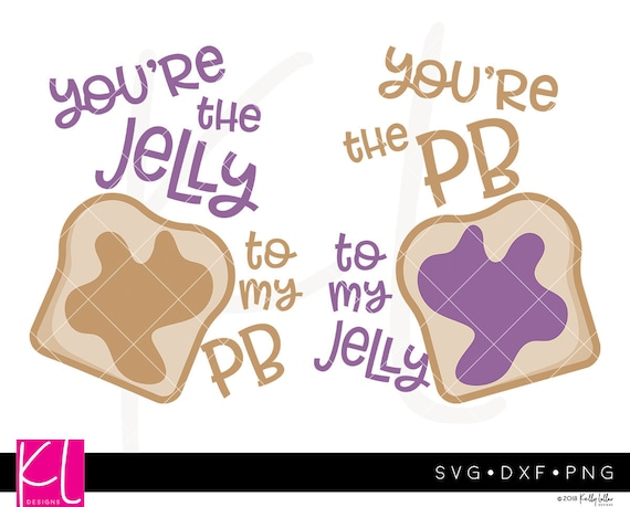 Peanut Butter And Jelly Pbj Svg Cut File Set For Best Friend Etsy