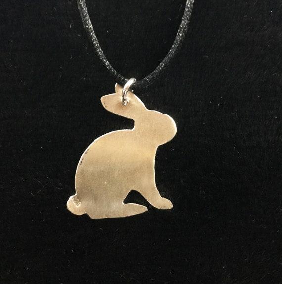 Métal Lapin Collier Pâques Pet Bunny Pendentif Charm Bijoux pour Pâques cadeaux