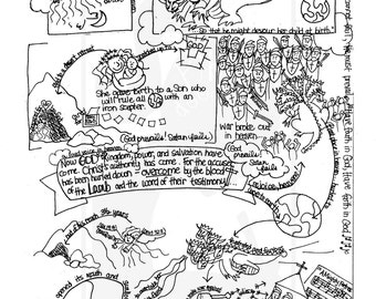 Majoras wrath coloring pages ~ Bible Doodle Study Guide for Revelation 14 The Lamb and ...