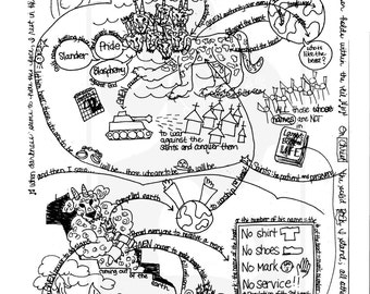 Bible Doodle Study Guide for Revelation 14 The Lamb and