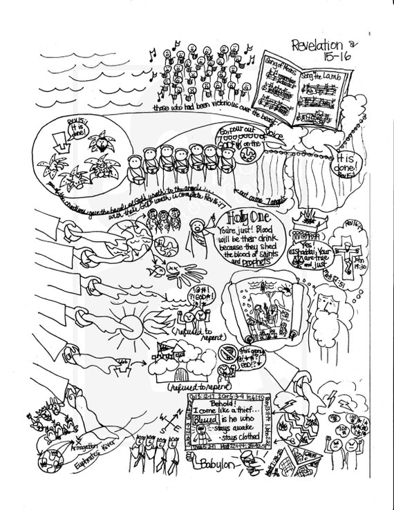 Bible Doodle Study Guide For Revelation 15 16 The 7 Angels