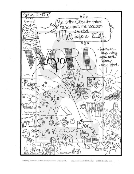 Bible Doodle Study Guide For John 1 1 18 The Prologue