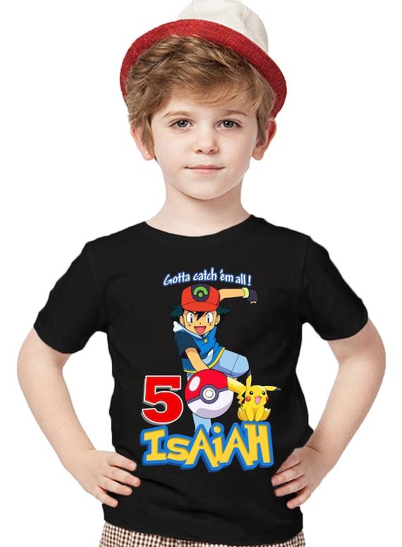 Pokemon GO Shirt Birthday Shirt Custom Name and Age Personalized Pokemon Shirt