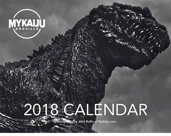 MyKaiju Godzilla Toy Photography 2018 12-Month Wall Calendar