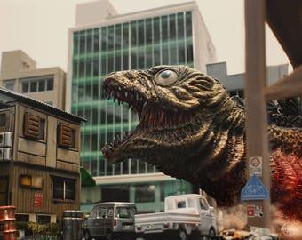 """10""""x8"""" Print of MyKaiju Toy Photography Shin Godzilla 2nd Form"""