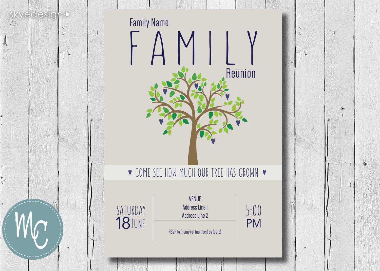 Charmant Familientreffen Einladung Vorlagen Fotos - Beispiel ...