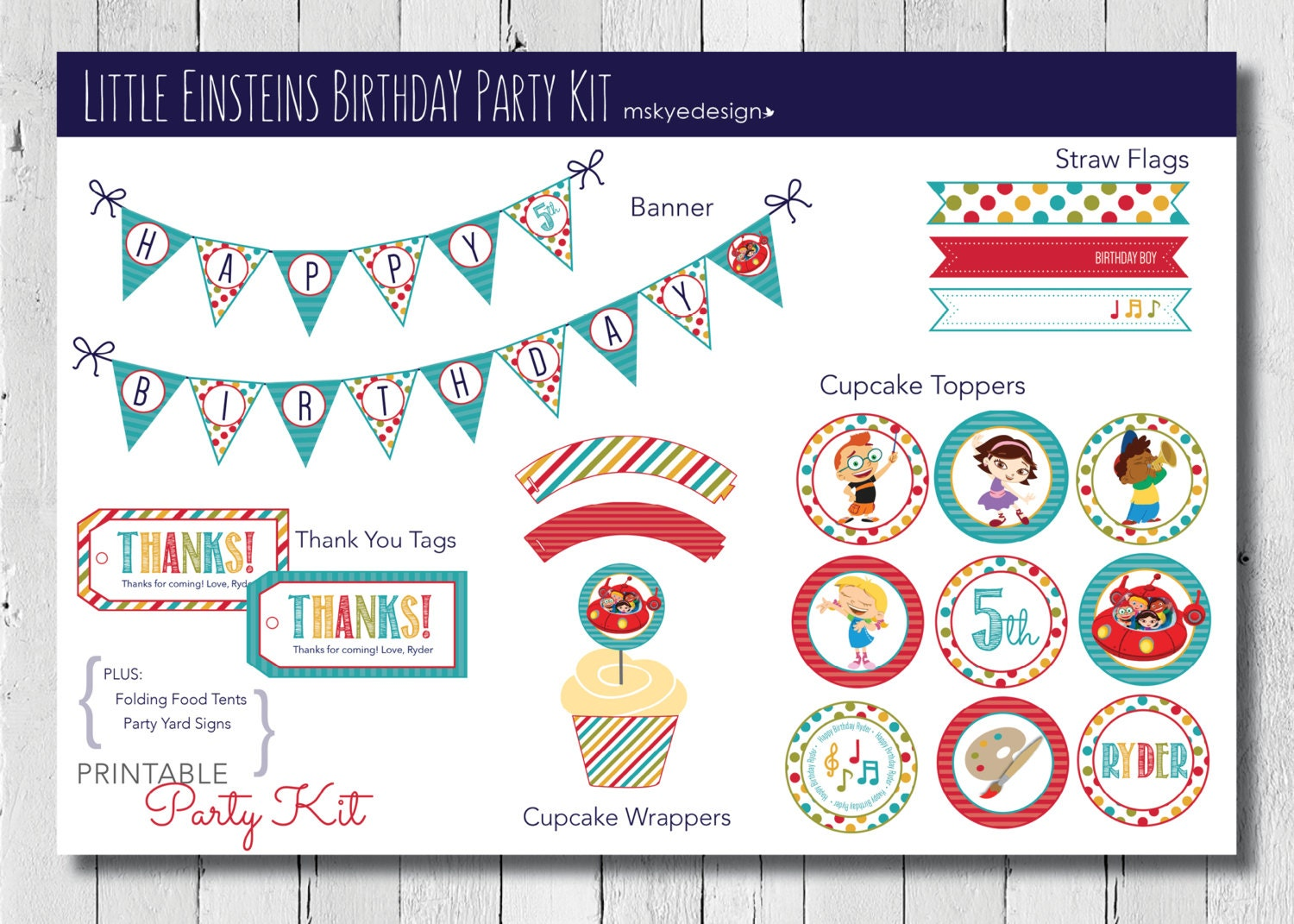Little Einsteins Birthday Party Kit Printable | Etsy