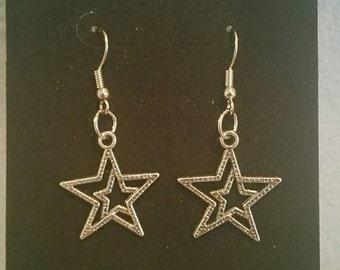 0132-Silver Star Earrings