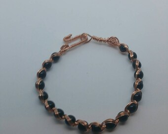 0234-Egyptian Copper Wire Wrapped Bracelet