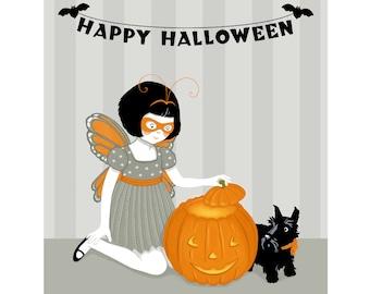 "Happy Halloween 8"" x 10"" Jack O'Lantern Print"