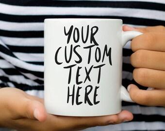 Mug personnalisé, déclaration mug, tasse personnalisée, cadeau pour elle, tasse de café pour les femmes, citation cadeau personnalisé de mug, Mug drôle, courses de tasse