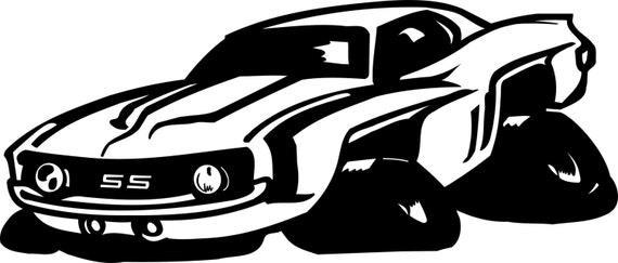 Muscle Car Svg File Cricut Silhouette Etsy