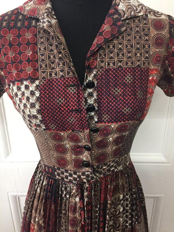 Vintage 1950s A-line Dress