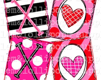 Doodle Truck with hearts Ready to Press Sublimation Transfer XOXO Valentine