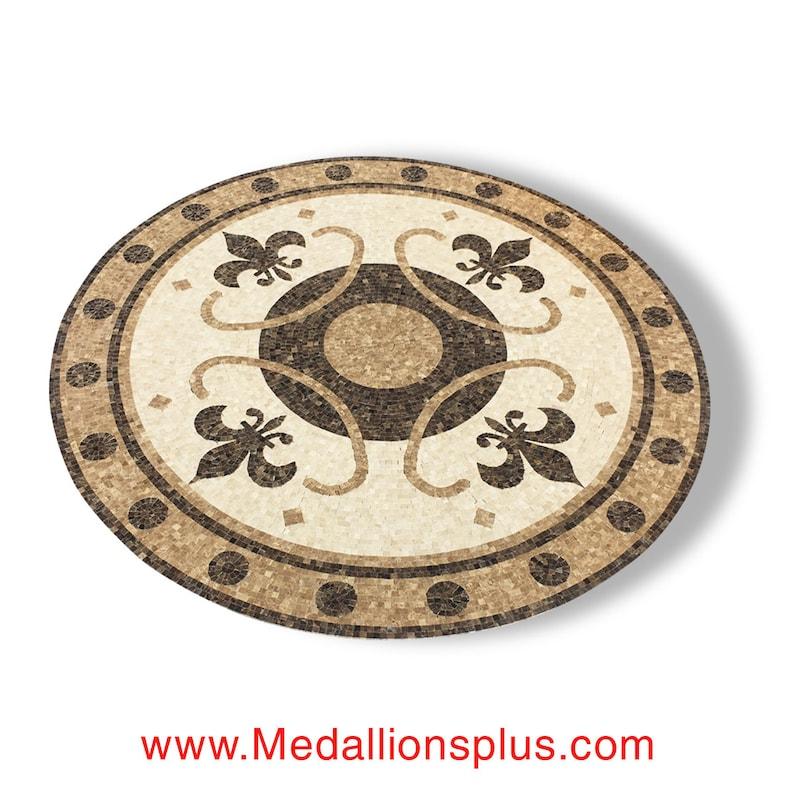 60 Mosaic Marble Floor Medallion Inlay Renaissance