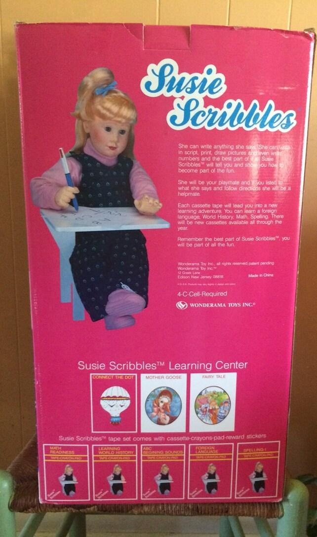 Vintage Susie Scribbles Doll 14 X 24 X 12 Rare Wonderama Etsy
