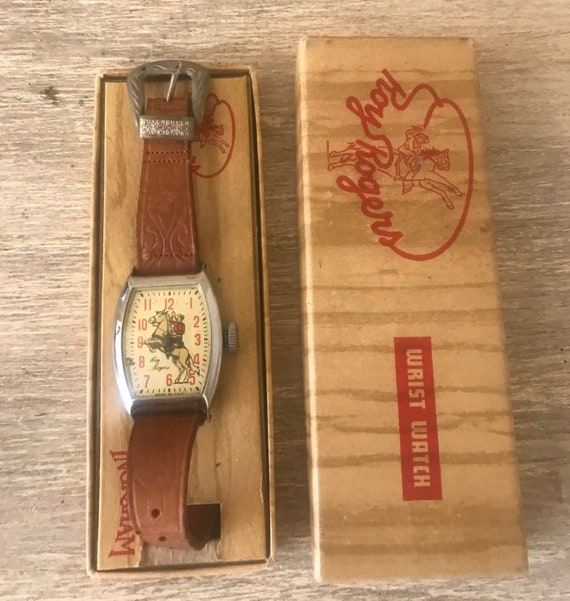 Vintage Roy Rogers Wrist Watch, by Ingraham, 50's