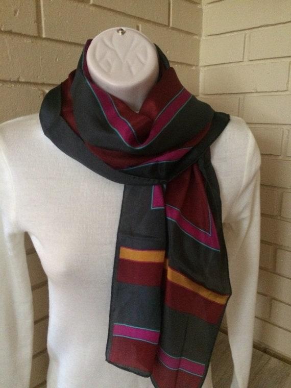 Vintage Scarf, Katja 100% silk scarf, Multi colors