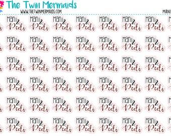 Mani and Pedi, Manicure, Pedicure Planner Stickers