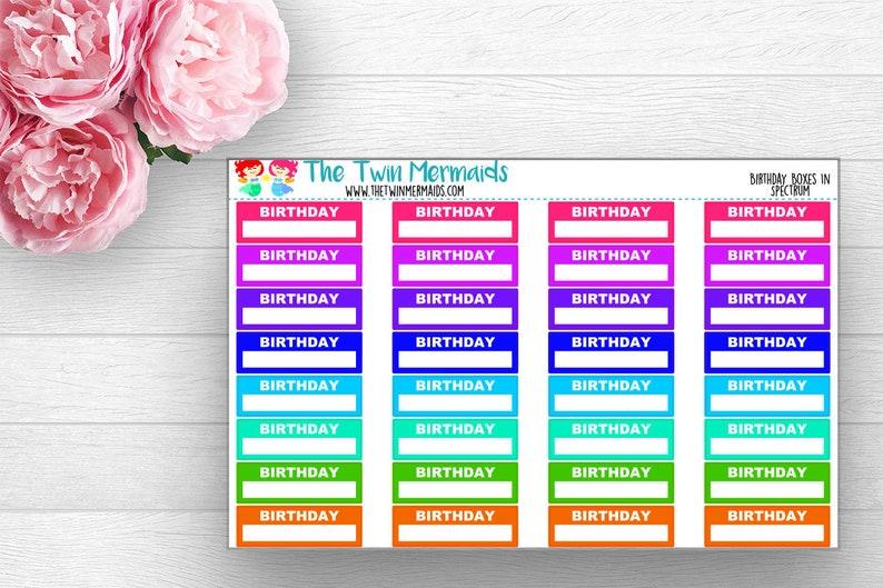 Birthday Box In Spectrum Planner Stickers