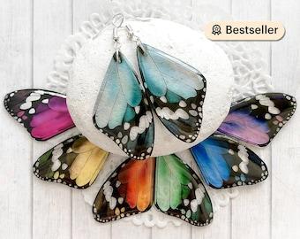 Baby blue butterfly earrings Something blue earrings Statement jewelry Gift for women Fairy wing earrings Ocean blues