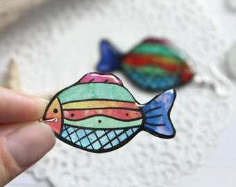 • •• Fish Earrings •• •