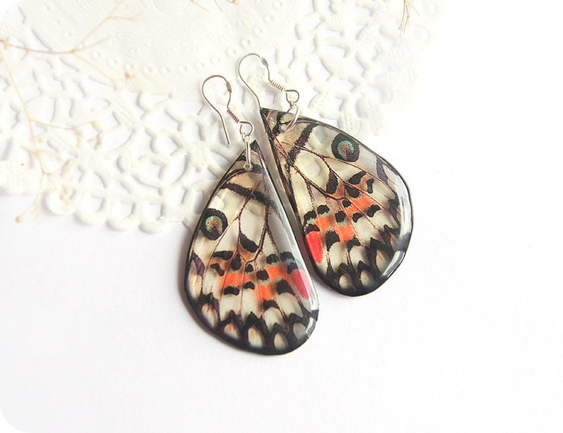 c8f33f696 Butterfly wing earrings look like real butterfly jewelry for | Etsy