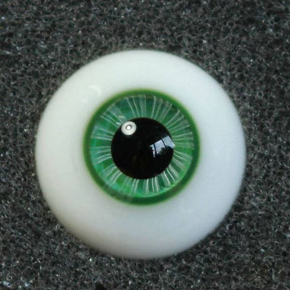 GoodQuality thin FlatBack DarkGreen Iris Glass 22MM BJD Eyes for Reborn BJD Doll