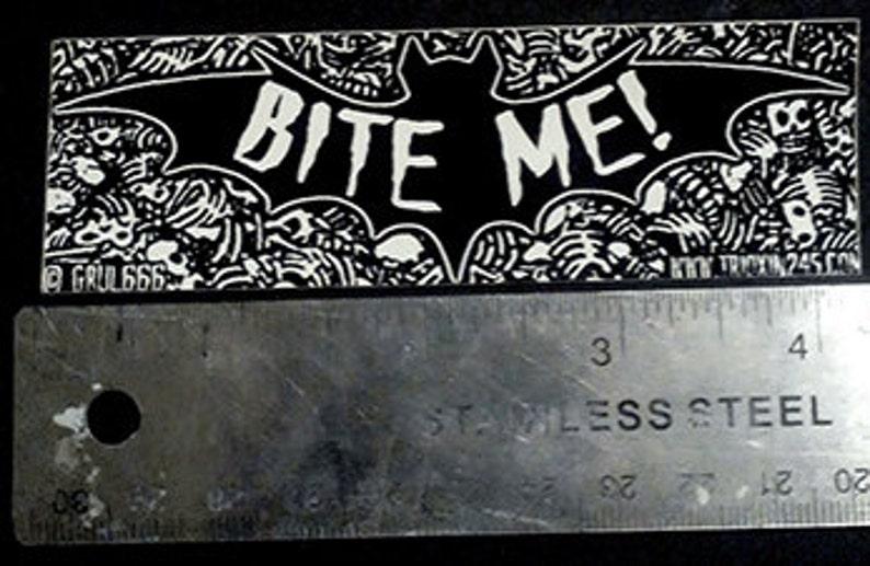 Vinyl Sticker Bite Me Vampire Goth image 0
