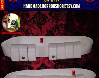 White Vinyl ESB ROTJ Boba Fett Ammo Belt - Paint It Yourself - Mandalorian 501st Super Trooper Prototype ***Free US Shipping***