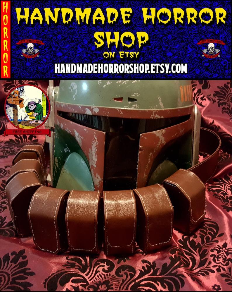 Boba Fett ROTJ ammo belt  pouches star wars 501st Mandalorian image 0