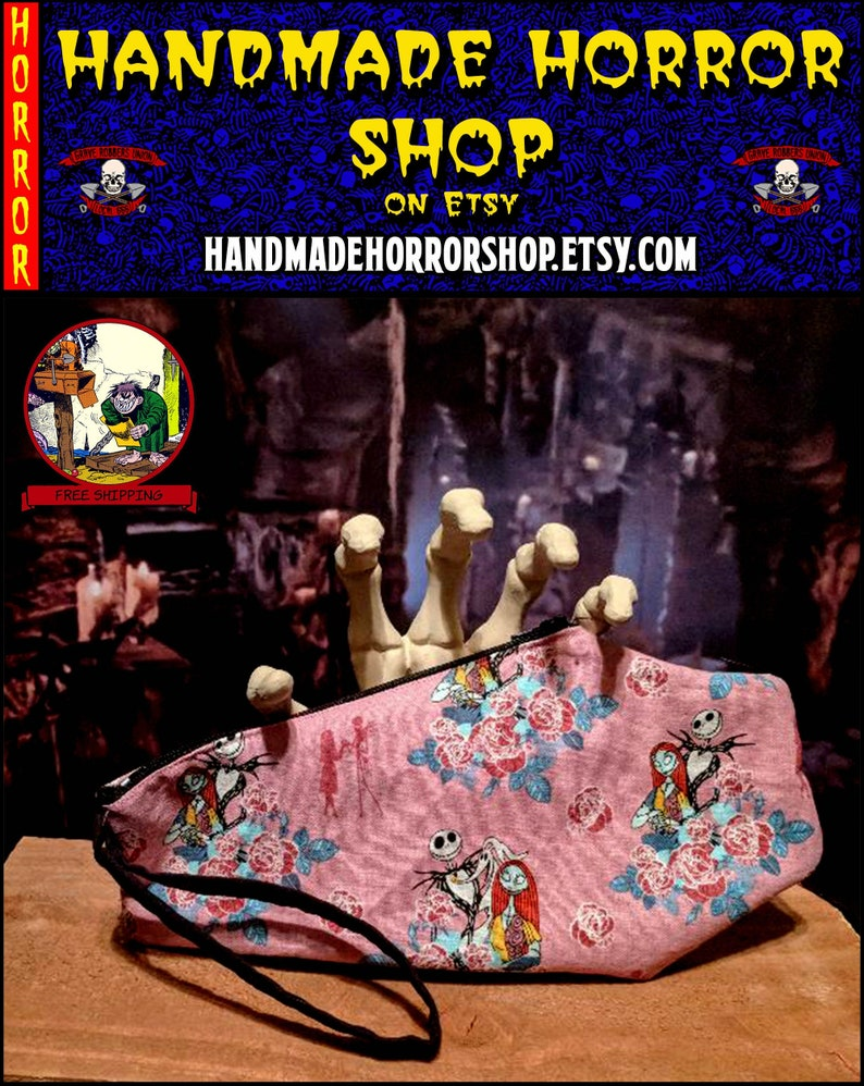 Nightmare Before Christmas Pink  Coffin image 0