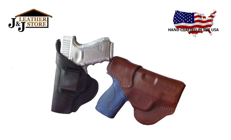 J&J Custom Fit Ruger SR9C Formed IWB Inside Waistband Premium Leather Carry  Holster