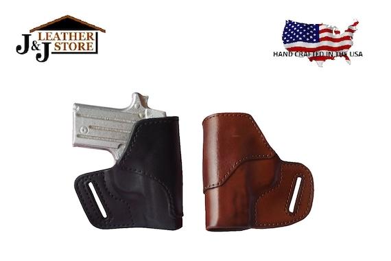 J&J Custom Fit TAURUS G2C, MILLENNIUM G2 PT111 PT140 W/ Crimson Trace Laser  OWB Belt Carry Formed Premium Leather Holster